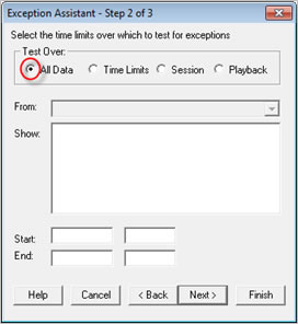 Pronto Software Exception Asistant Step 2 of 3